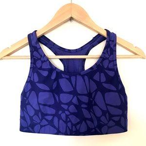 Champion Purple Pattern Sports Bra Medium